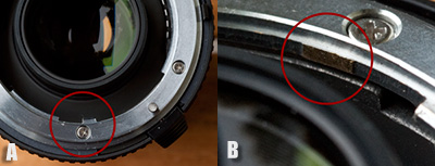 The annoying tab that needs to be removed on the lens attachment side of the TC-17EII