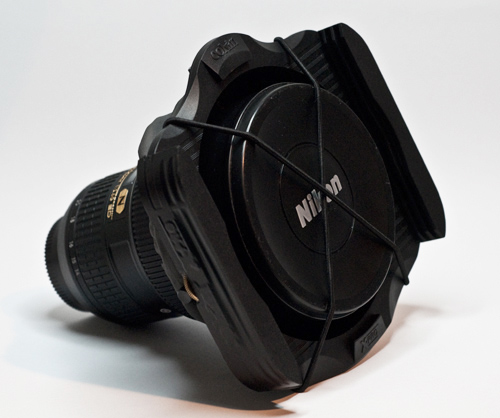 Cokin X-Pro filter holder on the Nikon 14-24 f2.8 - Front